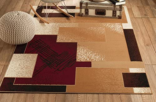 CHATEAU RUGS New Chateau 5 Burgundy Cream White Beige Style Available in Aprox Size , 5 X 7 AREA RUGS