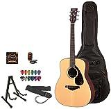 Yamaha FG700S Acoustic Guitar Kit - Includes: Lesson, ChromaCast Gig Bag, Strings, Strap, Stand, Tuner and Pick Sampler