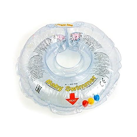 Baby Swimm Anillo Swimm Baby flotador (36102 para el cuello flotador transparente transparente Talla:L 6-36 kg: Amazon.es: Bebé
