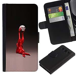 KLONGSHOP // Tirón de la caja Cartera de cuero con ranuras para tarjetas - Pop Art Conejo - Samsung Galaxy S3 III I9300 //