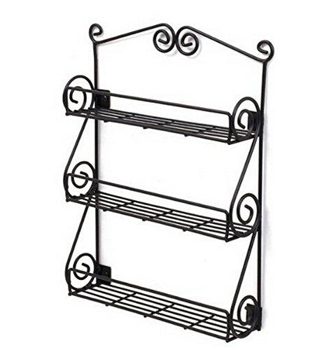Dazone® Multipurpose Wall mount Metal Nail Polish Rack 3-Ti