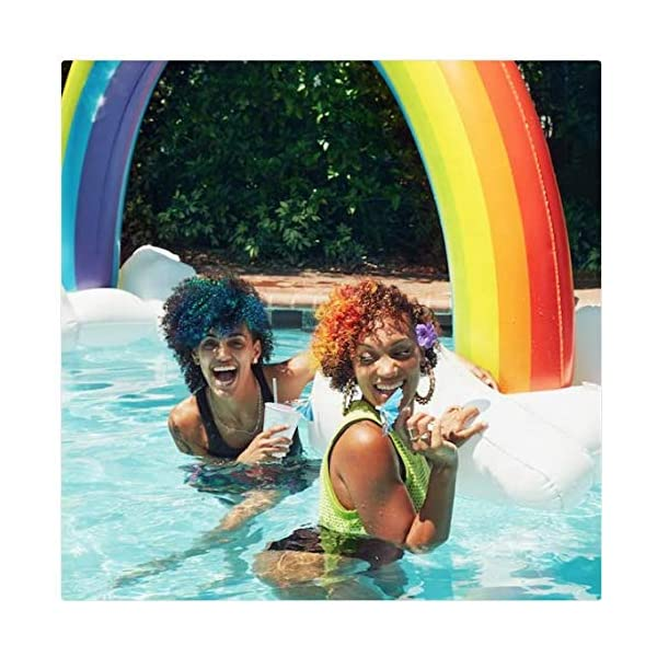 MeiGuiSha Inflatable Rainbow Yard Summer Sprinkler Toy, Over 6 Feet Long, Perfect for Summer Toy List 5