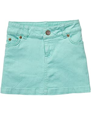 Baby Girls Stretch Twill Skort (Green, 6 Months)