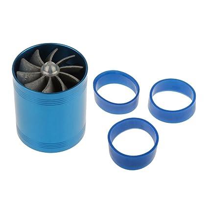 sharplace Kit aspiración del Filtros de Aire bajo Gas de doble turbina Compresor Turbo Ventilador Combustible