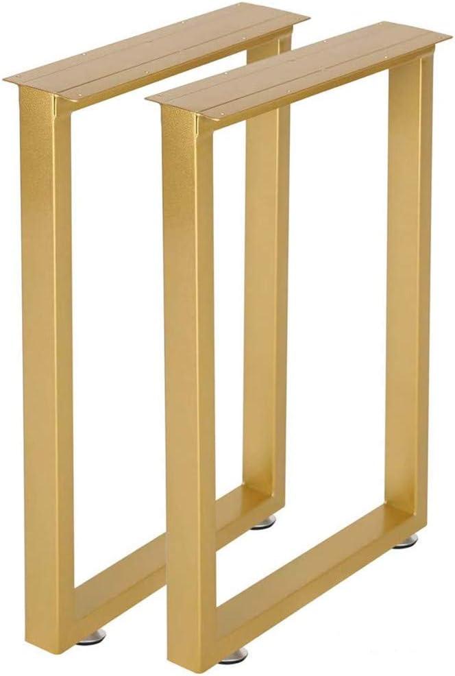 Metal Table Legs Desk Leg 28''Height 17.7''Wide Heavy Duty Dinning Table Leg,Modern Table Leg,Square Tube Iron Tale Legs (Gold)