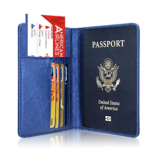Passport Holder Cover, ACdream Travel Leather RFID Blocking Case Wallet for Passport (Ticket Case)