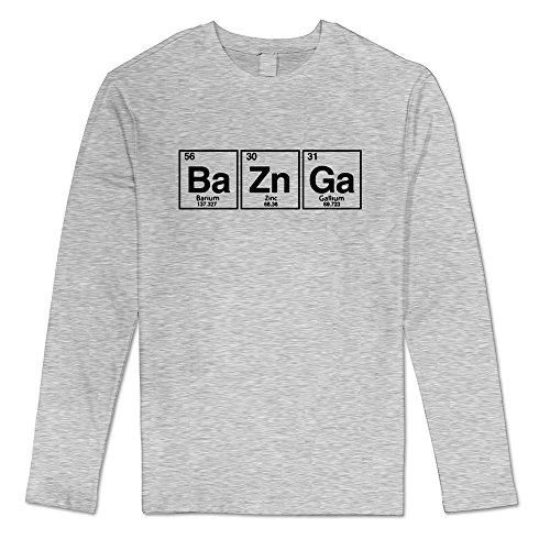 Men's Sheldon Cooper Big Bang Theory Long Sleeve Tshirts Size XL Ash -
