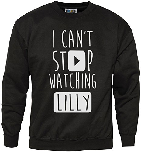 Vlogger Star Youtuber Hoodie Many Colours I Can/'t Stop Watching Lilly
