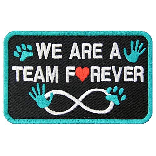 Service Dog We are A Team Forever Vests/Harnesses Patch Embroidered Badge Fastener Hook & Loop Emblem