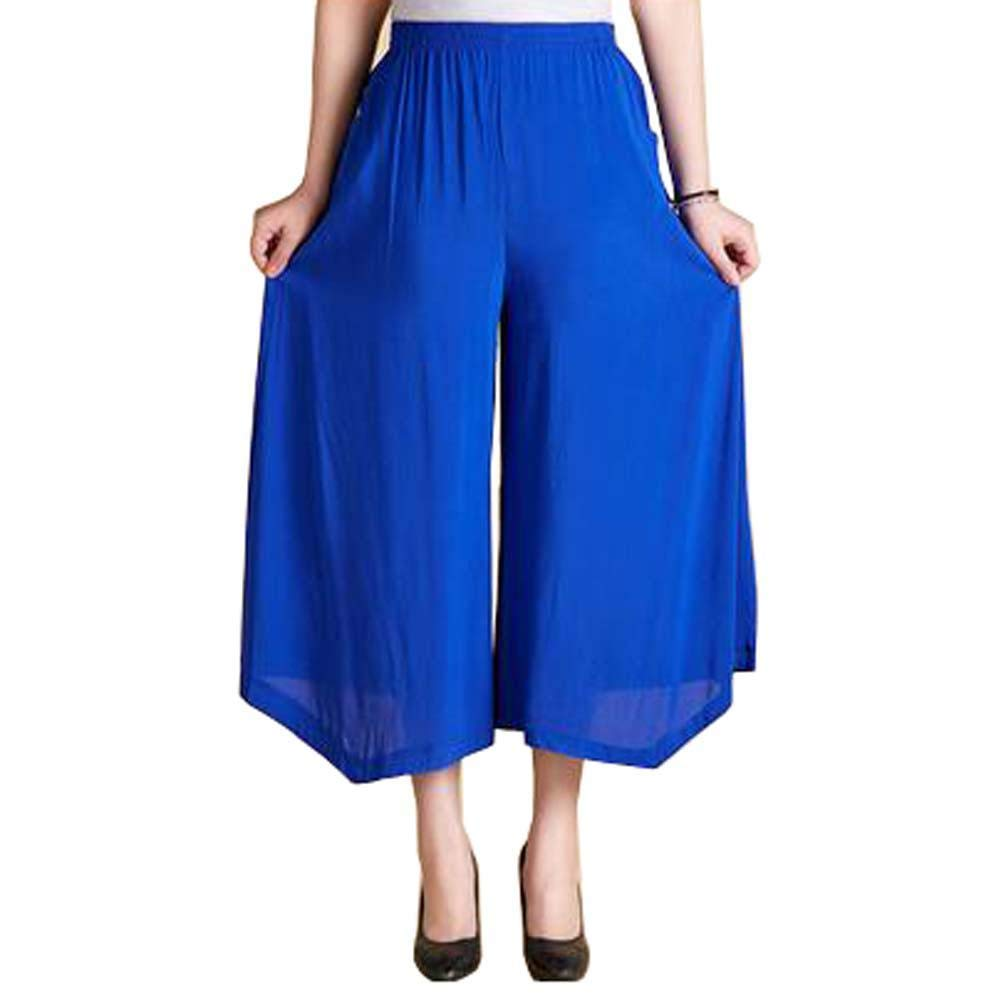 Women's Fashion Everyday Casual Pants Outdoor Sport Loose Pants, Sapphire Blue by Generic