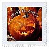 3dRose Halloween - Happy Halloween - 10x10 inch quilt square (qs_2836_1)