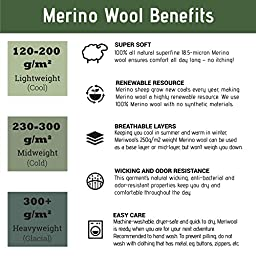 MERIWOOL Women's Merino Wool Midweight Baselayer Crew - Charcoal Gray/Medium