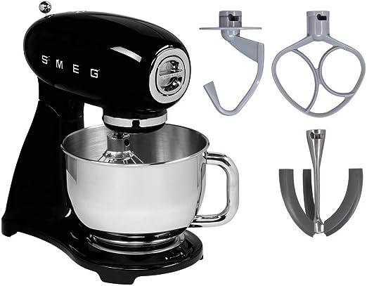 Smeg SMF03BLEU Robot De Cocina SMF03BELU 800w 4,8L-6 Funciones, 800 W, Acero inoxidable, 10 Velocidades, Aluminio, Negro: Amazon.es: Hogar