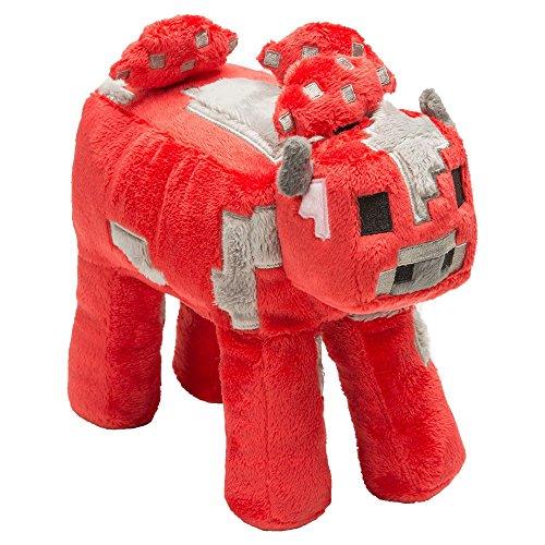 JINX Minecraft Mooshroom Plush Stuffed Toy (Red, 9 Long)