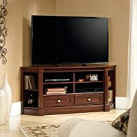 Sauder Palladia Corner TV Stand in Cherry