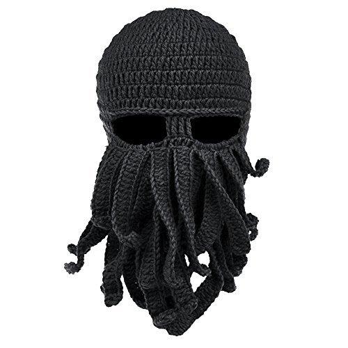 VBIGER Beard Hat Beanie Hat Knit Hat Winter Warm Octopus Hat Windproof Funny Men & Women
