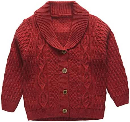 eTree Baby Boys' Girls' Lapel Button Cashmere Cardigan Sweater 1-6 years