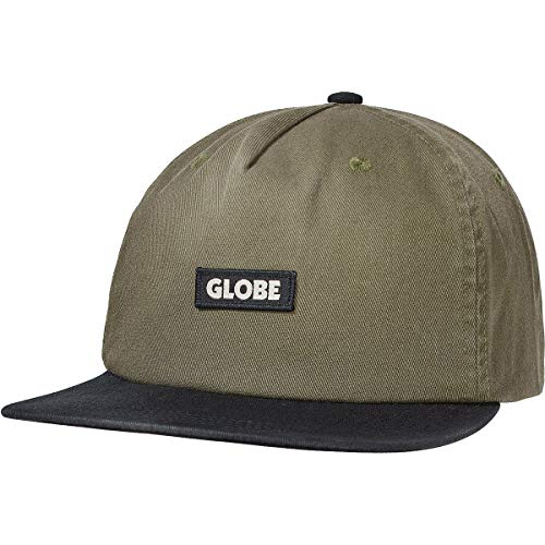 Globe Men's Bar Snapback Adjustable Hats,One Size,Tan