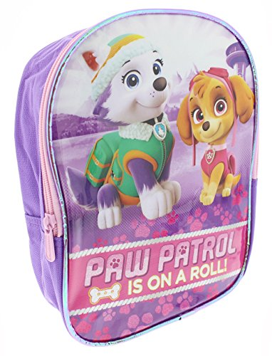 Girls Paw Patrol Skye and Everest Mini Backpack for School and Travel, Toddlers, Kids - Purple/Multicolor, Ages 3 and Up, 10