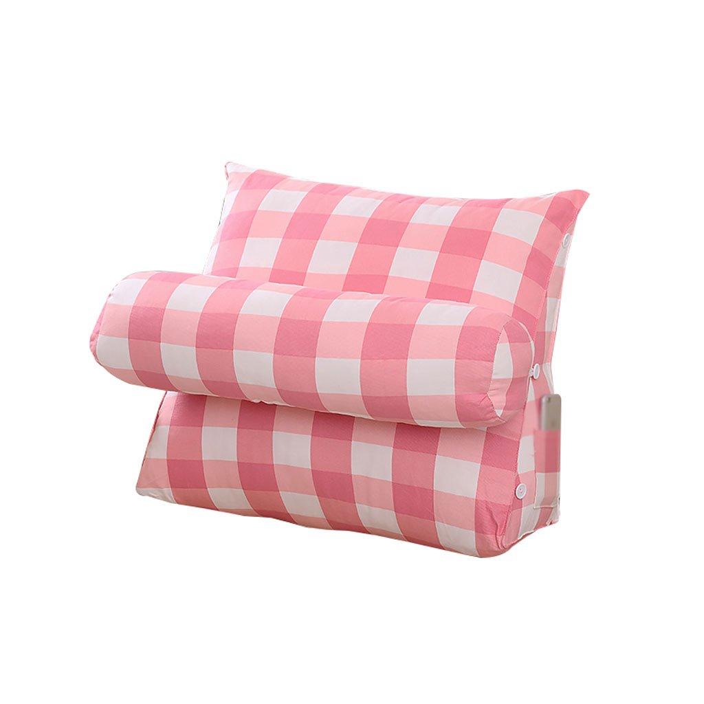 Triangle Bedside Pillow With Headrest Sofa Bed Headrest Bay Window Cushion Back Office Pillow Lumbar Pillow Backrest Waist Pads Geometric Patterns (Color : A, Size : 60cm20cm50cm)