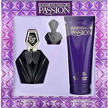 Passion By Elizabeth Taylor For Women, Set-edt Spray, 2.5-Ounce Bottle Body Lotion 6.8-Ounce Bottle Parfum .12-Ounce Bottle Mini