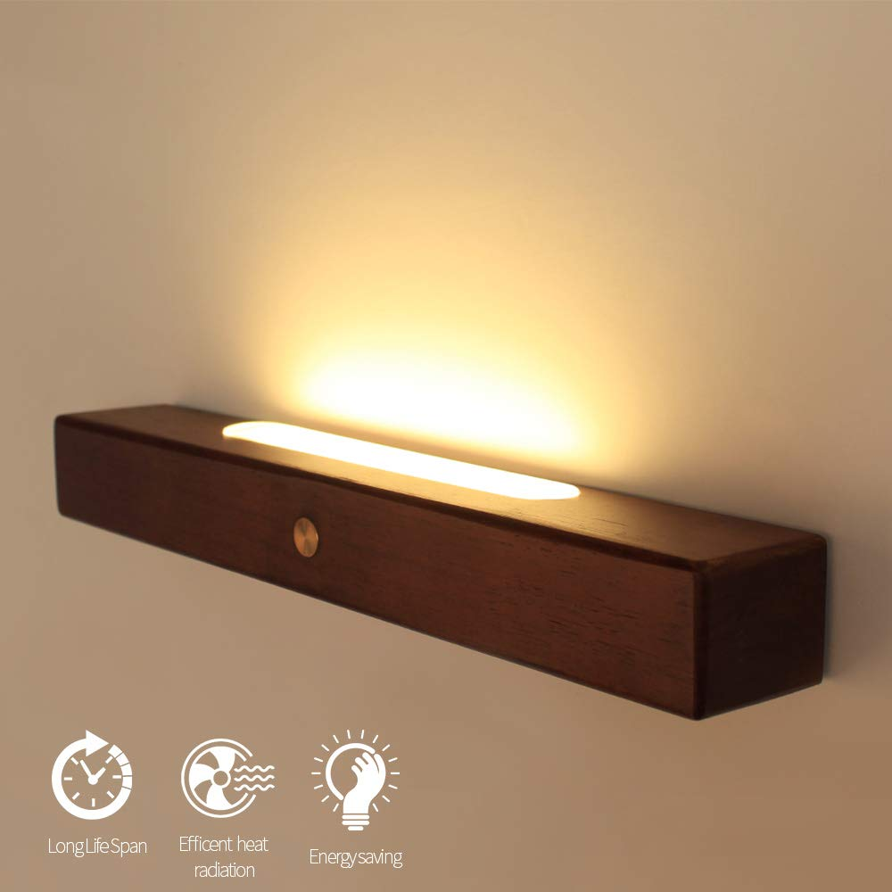 Aisilan Classic Nordic Style Wall Lamp, Cozy Warm White Upward Or Downward Installation Minimalist Touch Sensing Switch Perfect for Bedroom Office Living-Room BD-56
