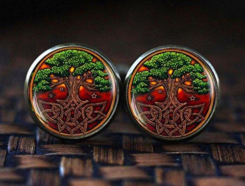 Celtic Tree of life cufflinks, Celtic knot cufflinks, Celtic Tree cufflinks, Irish cufflinks, Celtic cufflinks, Tree of life cufflinks