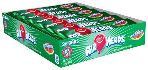 Airheads Candy Individually Wrapped Bars, Watermelon, 0.55 Ounce (Pack of 36)