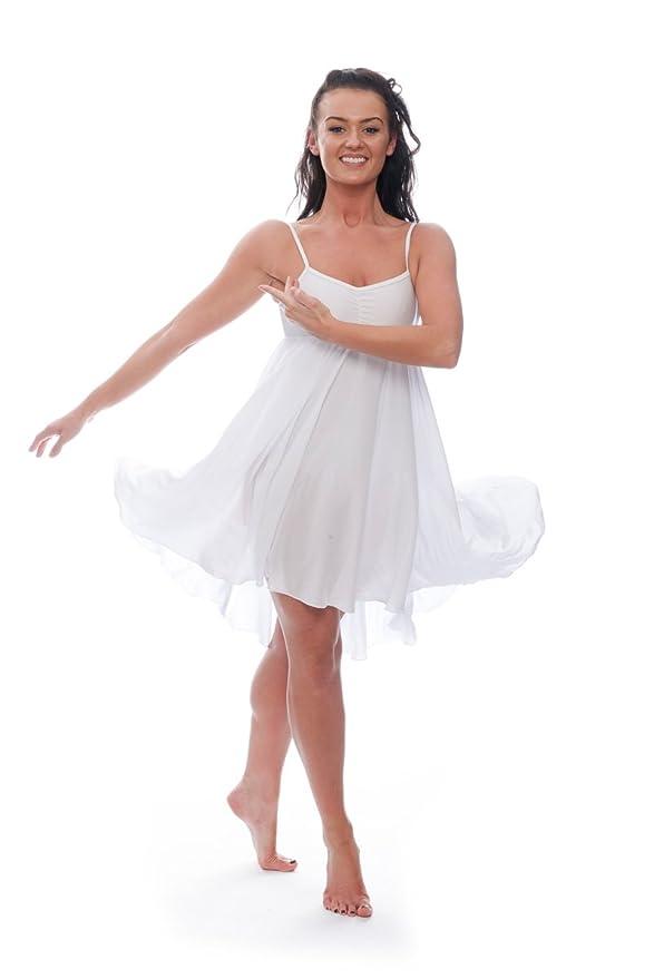 464bc267b Katz Dancewear Ladies Girls White Lyrical Dress Contemporary Ballet ...