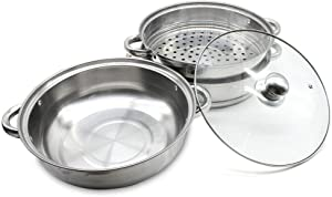 Food Steamer Stainless Steel Steamer Cooking Pot Double Layer Vegetable Steamer 11
