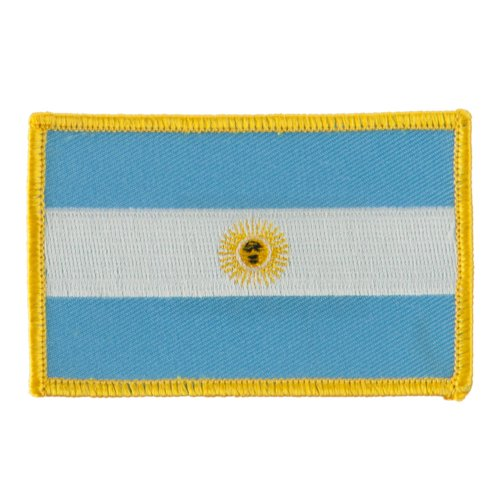 America Flag Embroidered Patches - Argentina ()