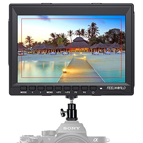 "Feelworld FW759 Camera Monitor 7"" HD 1280x800 Field Video LCD IPS Screen 1200:1 High Contrast Ratio for Steady Cam, DSLR Rig, Camcorder Kit, Handheld Stabilizer"