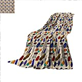 Freedom Drum Side Table Sport Super Soft Lightweight Blanket Competitive Activities Goods Pattern Weights Coats Bowling Pins Ping Pong Gymnastic Oversized Travel Throw Cover Blanket 70 x 60 inch Multicolor