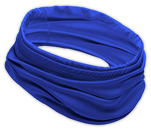 Multi Head Scarf (12-in-1 Cooling Headwear - Versatile Outdoors & Daily Headwear - 12 Ways to Wear including Headband, Neck Wrap, Bandana, Face Mask, Helmet Liner. Performance Moisture Wicking Polyester. UPF 30)
