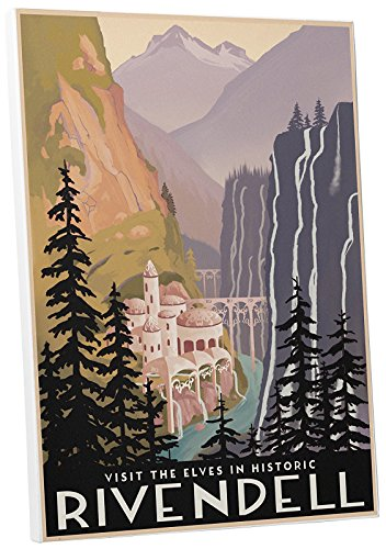 Pingo World 0205Q6FJYMS Steve Thomas Historic Rivendell Gallery Wrapped Canvas (20L x 30H). Bonus Wall Decal!, 20