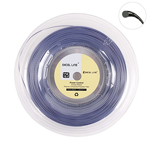 Excel Line 660FT Premium Reel Tennis Racquet String -1.25mm/17 Power (17 Tennis Racquet String)