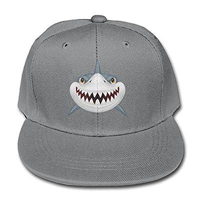 COLIVY Children Scary Shark Fierce Unisex Plain Snapback Hip-Hop Cap Adjustable One Size by COLIVY