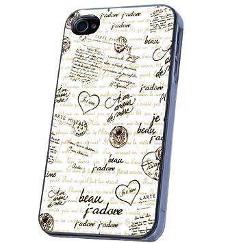 Francés Amor Diseño iPhone 4 4S Funda Carcasa Trasera, De ...