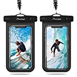 ProCase Universal Waterproof Pouch IPX8 Waterproof Cellphone Dry Bag Underwater Case for iPhone 11 Pro Max Xs Max XR X 8 7 6S+, Galaxy S10+ S9 S8+/Note10 10+ 5G 9, Pixel 3 XL up to 6.8' -2 Pack, Black