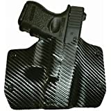 Black Carbon Fiber Kydex OWB holsters for more than 150 different handguns. Left & Right hand versions available.