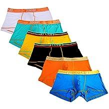 JINSHI Men's Underwear Trunks Soft Bamboo Boxer Briefs Short Leg