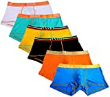 JINSHI Men's Underwear Trunks Soft Bamboo Boxer Briefs Short Leg Medium