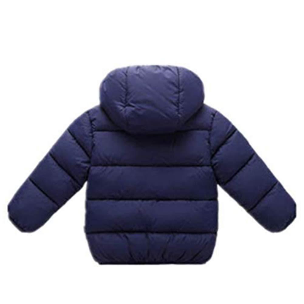 Digirlsor Toddler Baby Hooded Down Jacket Kids Boys Girls Thicken Winter Warm Coat Fleece Outerwear,1-7 Years