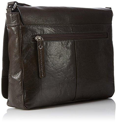 Gerry Weber Lugano Flap Bag - Bolso bandolera Mujer Braun (dark brown 702)