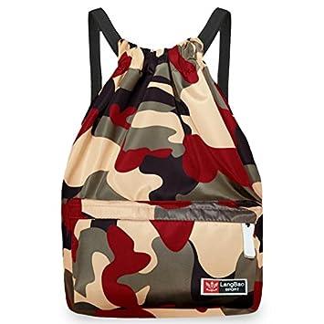 Mochila de cuerda para mujer, BeGreat bolsa plegable de tela, bolsa de ocio y de aptitude, para aire libre, viajes, escuela: Amazon.es: Deportes y aire ...