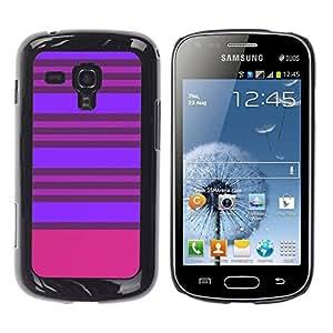 TopCaseStore / la caja del caucho duro de la cubierta de protección de la piel - Purple Pink Lines Symmetric - Samsung Galaxy S Duos S7562