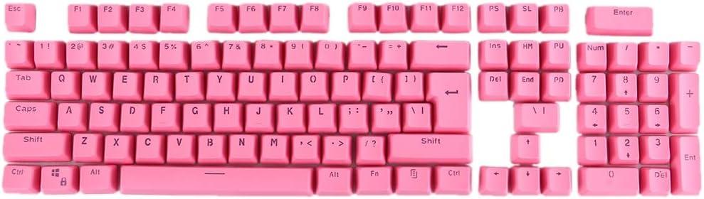 Orange Color : Pink CHENFA 104 Keys Double Shot PBT Backlit Keycaps for Mechanical Keyboard