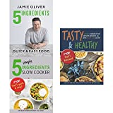 Books : 5 Ingredients - quick & easy food [hardcover], 5 simple ingredients slow cooker and tasty and healthy 3 books collection set