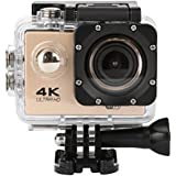Sandsitore 4K Sport Action Camera 16MP WIFI Waterproof Camera 2inch LCD Screen 170 Ultra Wide-Angle Lens Underwater Camcorder And Full Accessories Kits (Gold)