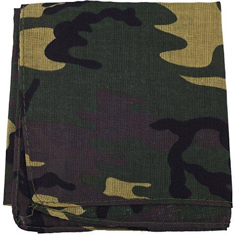 Lux Accessories Camo Army Green Paisley Print Hair Headwrap Headband Bandana